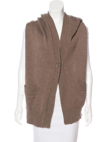Zero + Maria Cornejo Hooded Merino Wool Vest None