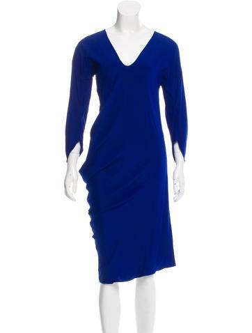 Zero + Maria Cornejo Silk Draped Dress None