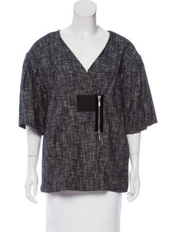 Zero + Maria Cornejo Tweed Asymmetrical Jacket w/ Tags None