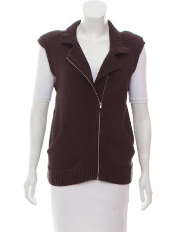 Zero + Maria Cornejo Structured Wool Vest None