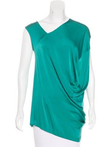 Zero + Maria Cornejo Silk Asymmetrical Top None