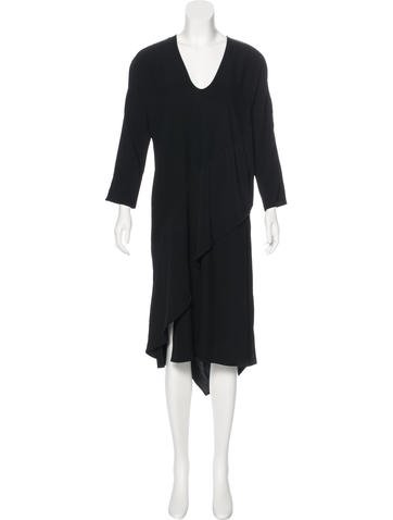 Zero + Maria Cornejo Long Sleeve Midi Dress None