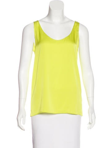 Zero + Maria Cornejo Silk Sleeveless Top None