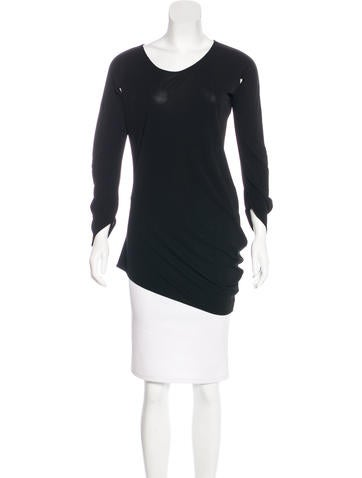 Zero + Maria Cornejo Knit Scoop Neck Top None