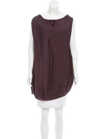 Zero + Maria Cornejo Oversize Silk Top None