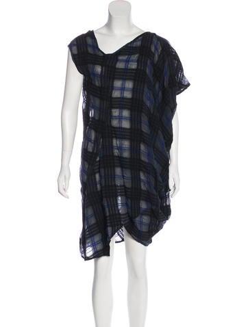 Zero + Maria Cornejo Draped Mini Dress None