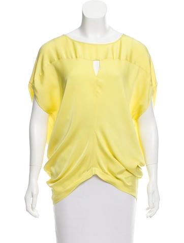Zero + Maria Cornejo Oversized Silk Top None