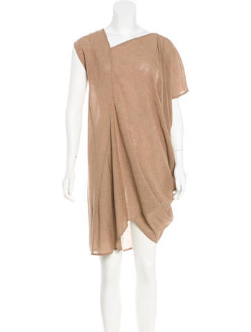 Zero + Maria Cornejo Asymmetrical Knee-Length Dress None