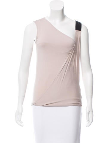 Zero + Maria Cornejo Asymmetrical Sleeveless Top None