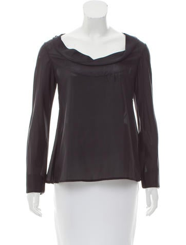 Zero + Maria Cornejo Silk Long Sleeve Top None