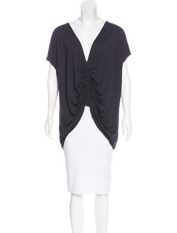 Zero + Maria Cornejo Ruched Jersey Top None
