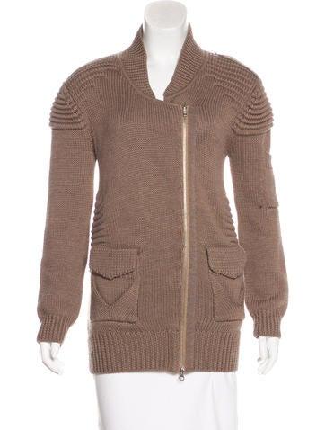 Zero + Maria Cornejo Wool Zip-Up Sweater None