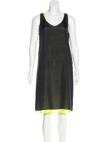 Zero + Maria Cornejo Silk Sleeveless  Dress None