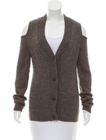 Zero + Maria Cornejo Cold-Shoulder Knit Cardigan w/ Tags None