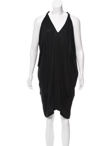 Zero + Maria Cornejo Draped V-Neck Dress None
