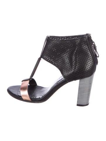 Zero + Maria Cornejo Perforated Leather Sandals None