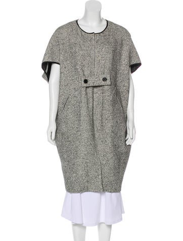 Zero + Maria Cornejo Knee-Length Knit Coat None
