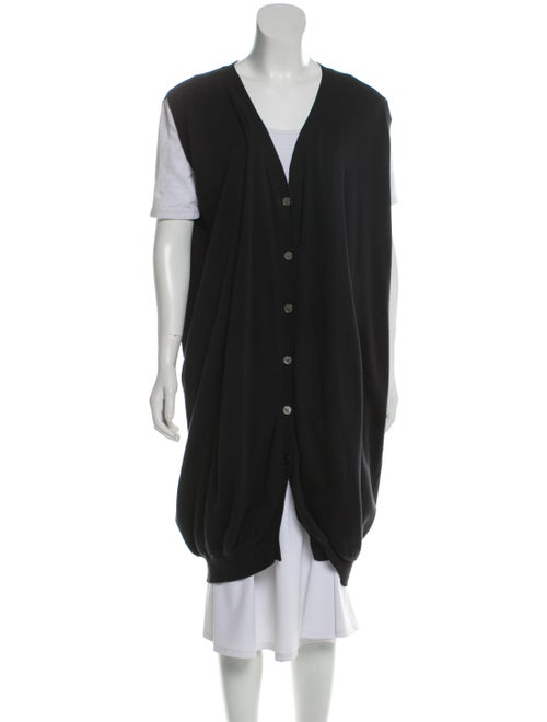 Zero + Maria Cornejo Sleeveless Long Cardigan Blac