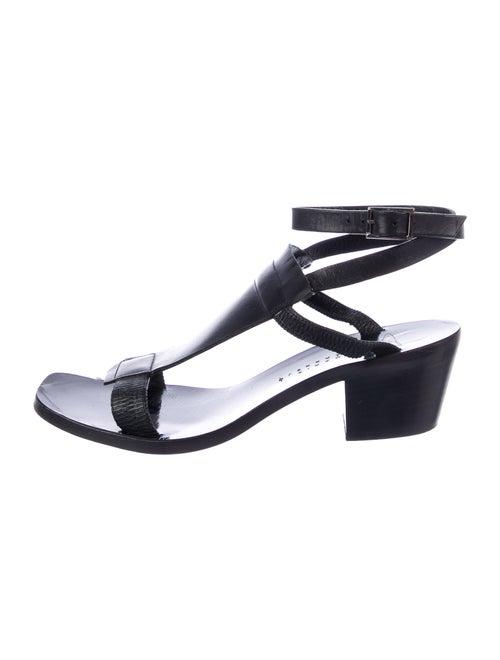 Zero + Maria Cornejo Leather Sandals Black