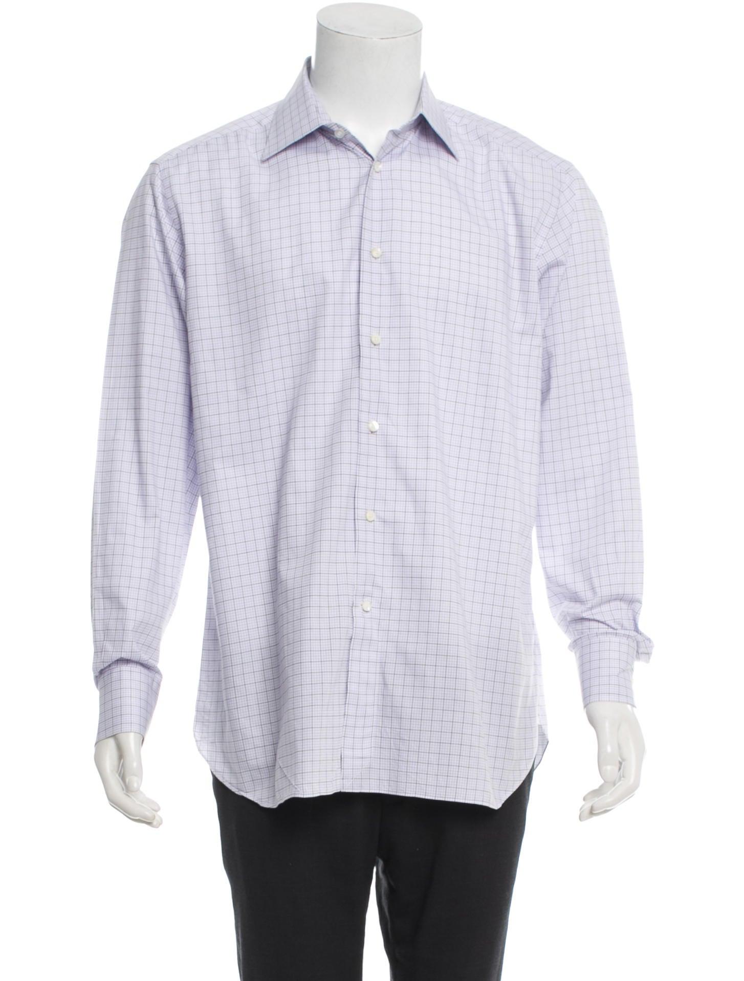 ermenegildo zegna long sleeve button up shirt clothing zgn22487 the realreal. Black Bedroom Furniture Sets. Home Design Ideas