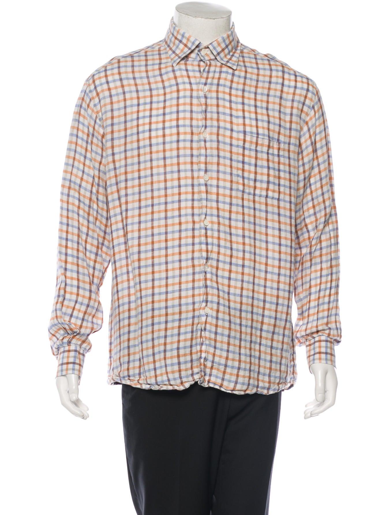 ermenegildo zegna linen button up shirt clothing zgn22686 the realreal. Black Bedroom Furniture Sets. Home Design Ideas