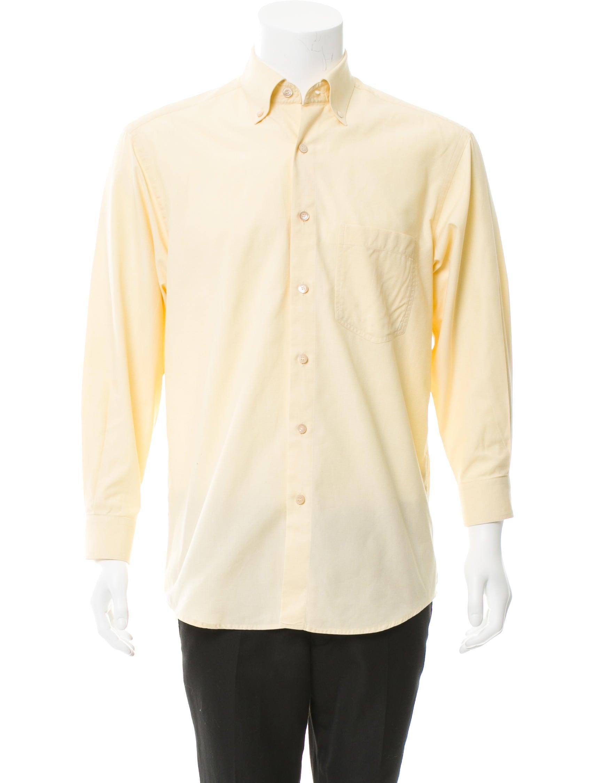 ermenegildo zegna long sleeve button up shirt clothing zgn23661 the realreal. Black Bedroom Furniture Sets. Home Design Ideas