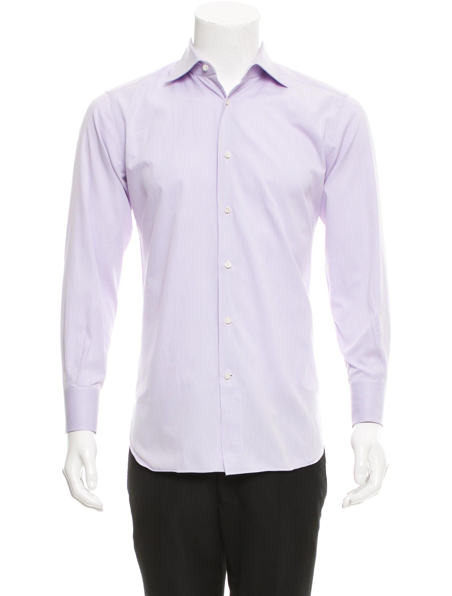 ermenegildo zegna striped button up shirt clothing zgn23961 the realreal. Black Bedroom Furniture Sets. Home Design Ideas