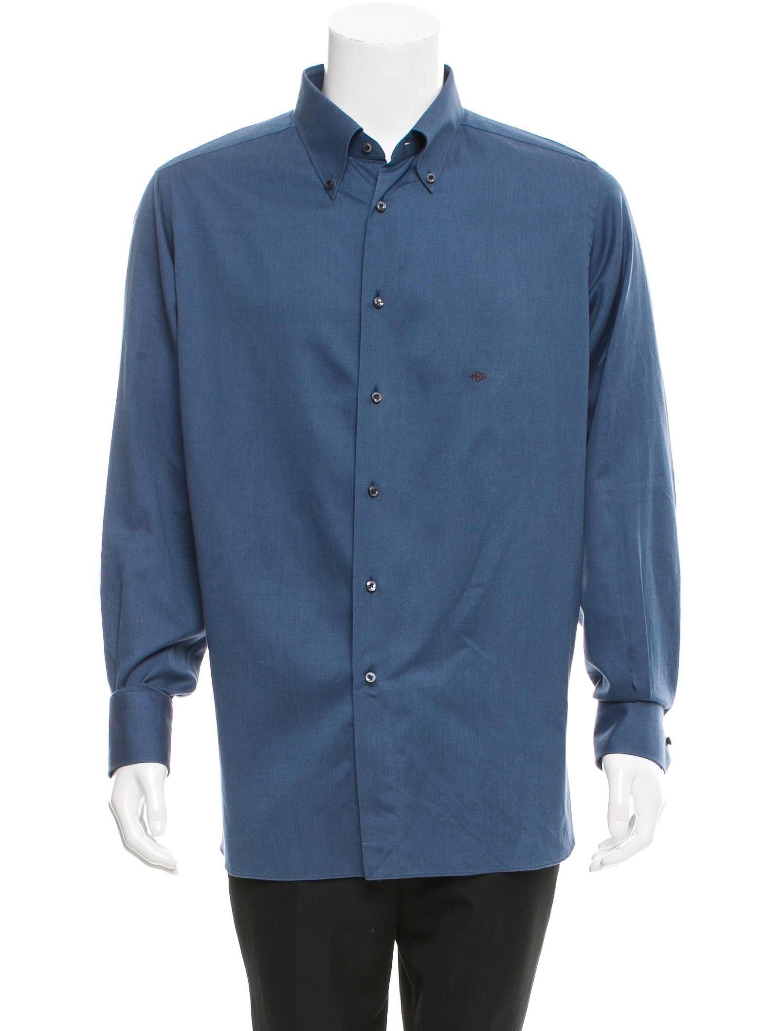 ermenegildo zegna su misura button up shirt clothing zgn23985 the realreal. Black Bedroom Furniture Sets. Home Design Ideas