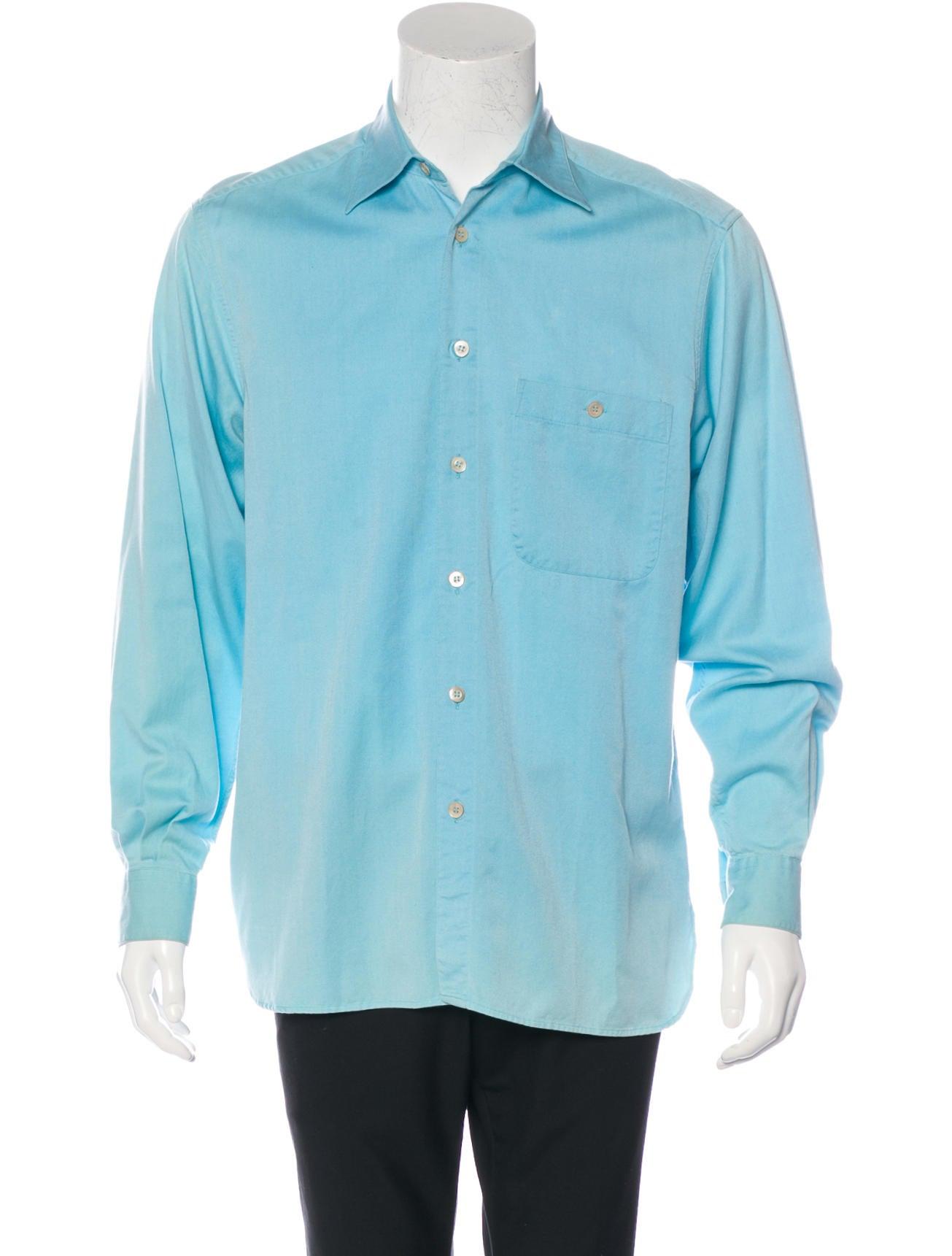 ermenegildo zegna jak twill shirt clothing zgn24019 the realreal. Black Bedroom Furniture Sets. Home Design Ideas