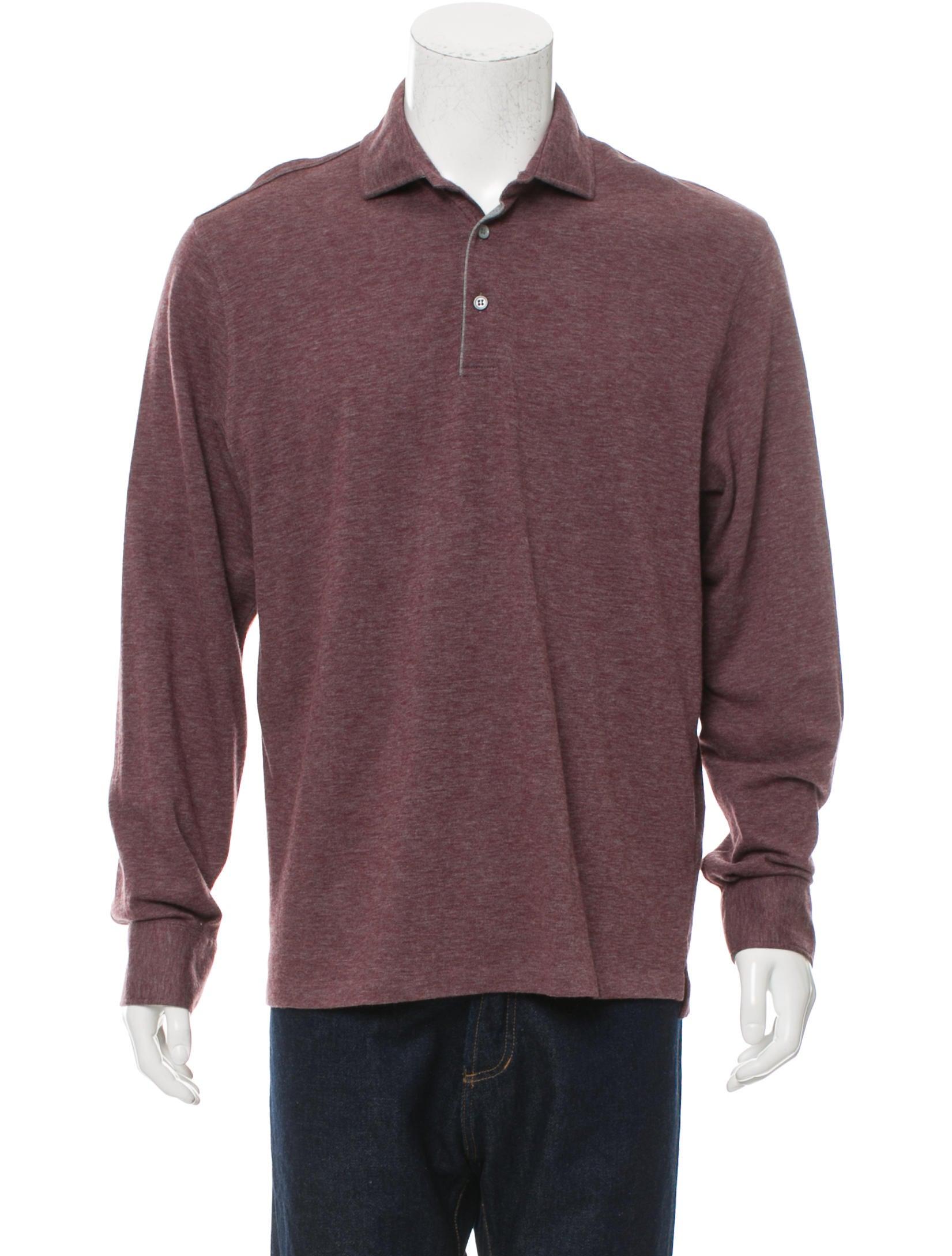 Ermenegildo zegna long sleeve polo shirt clothing for Zegna polo shirts sale