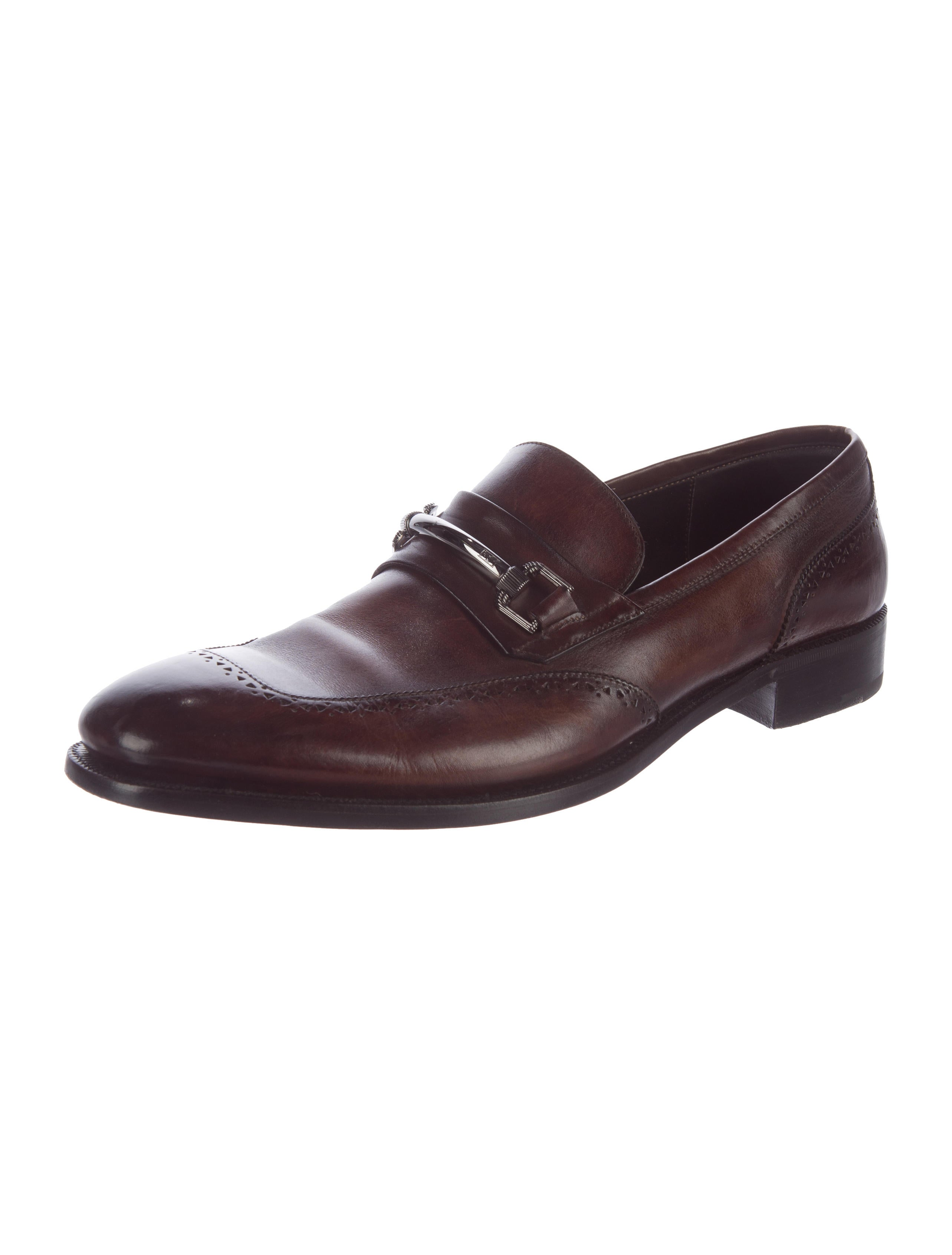 ermenegildo zegna leather dress loafers shoes zgn24079