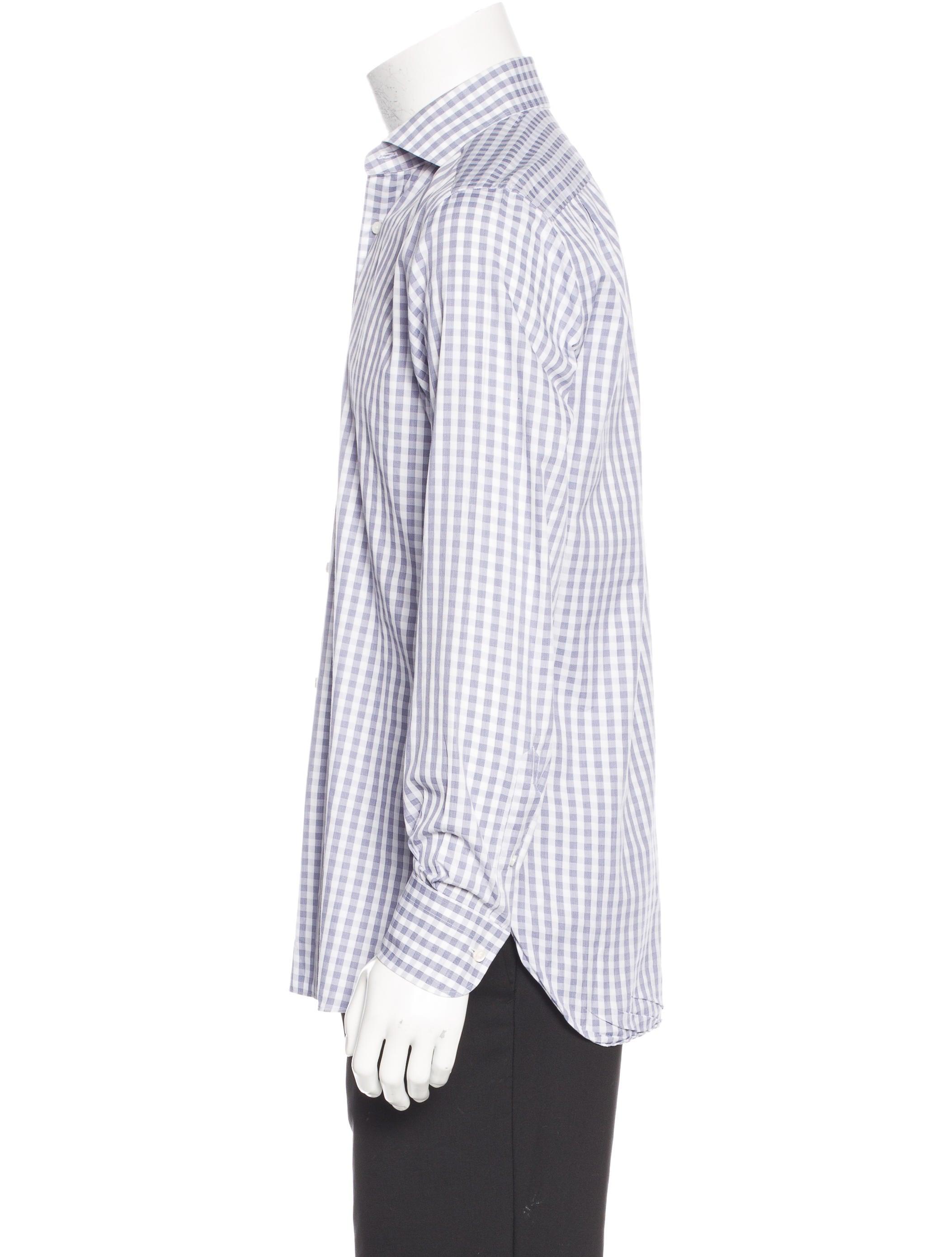 Ermenegildo zegna gingham dress shirt clothing for Gingham dress shirt men