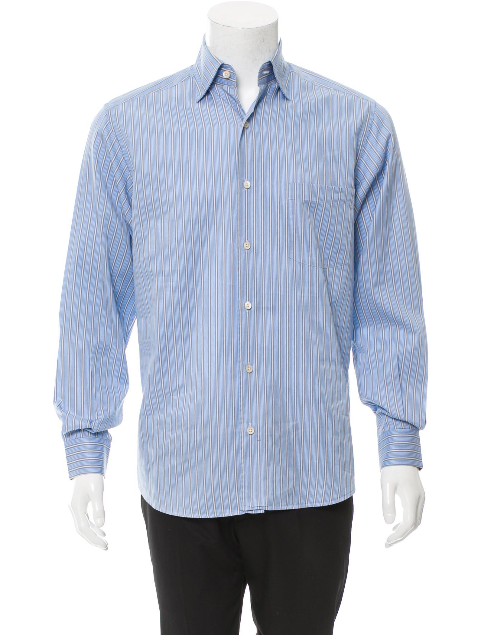 ermenegildo zegna striped button up shirt clothing zgn24136 the realreal. Black Bedroom Furniture Sets. Home Design Ideas