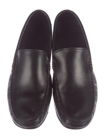 ermenegildo zegna leather dress loafers shoes zgn24220