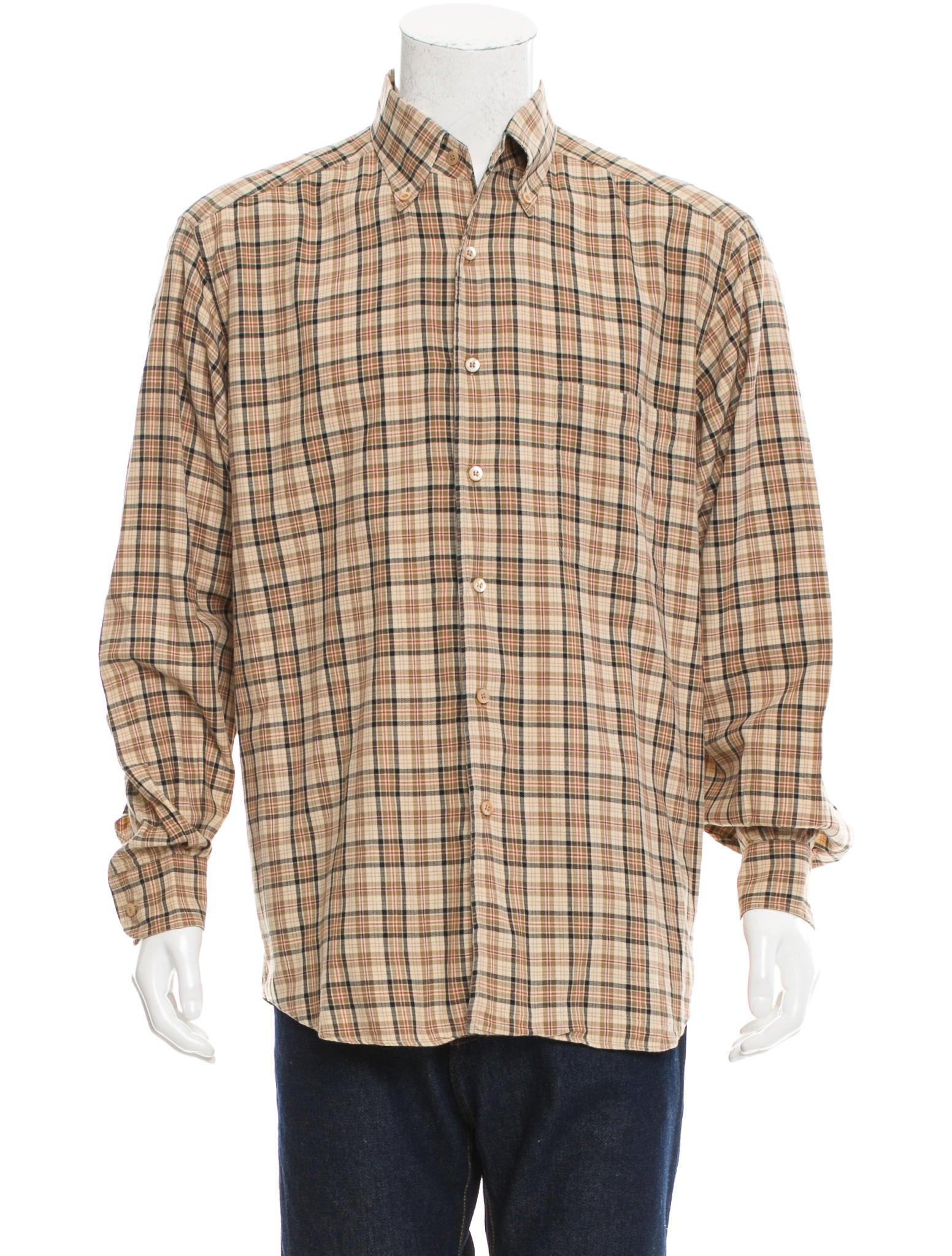 ermenegildo zegna plaid button up shirt clothing zgn24221 the realreal. Black Bedroom Furniture Sets. Home Design Ideas