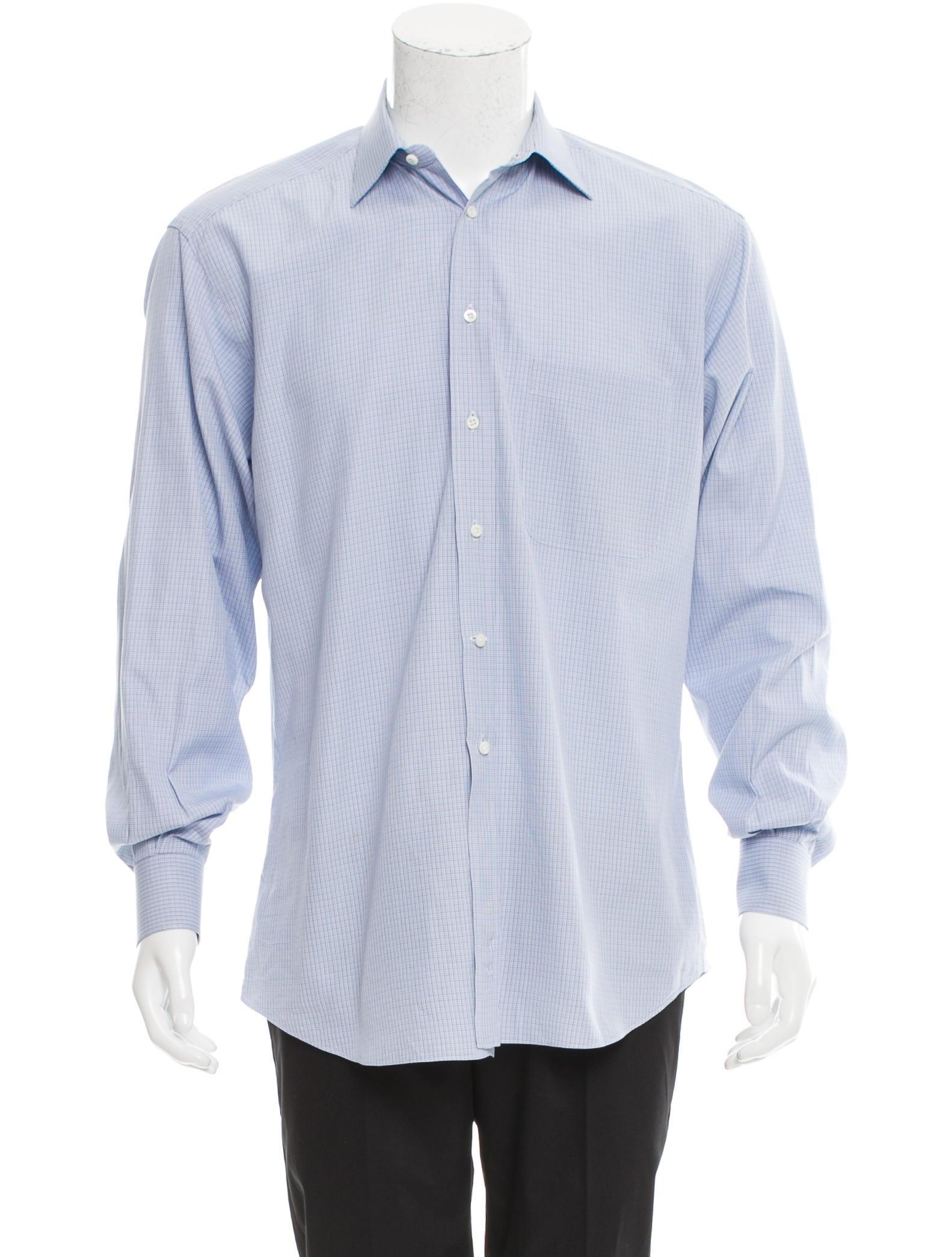 ermenegildo zegna plaid button up shirt clothing zgn24243 the realreal. Black Bedroom Furniture Sets. Home Design Ideas