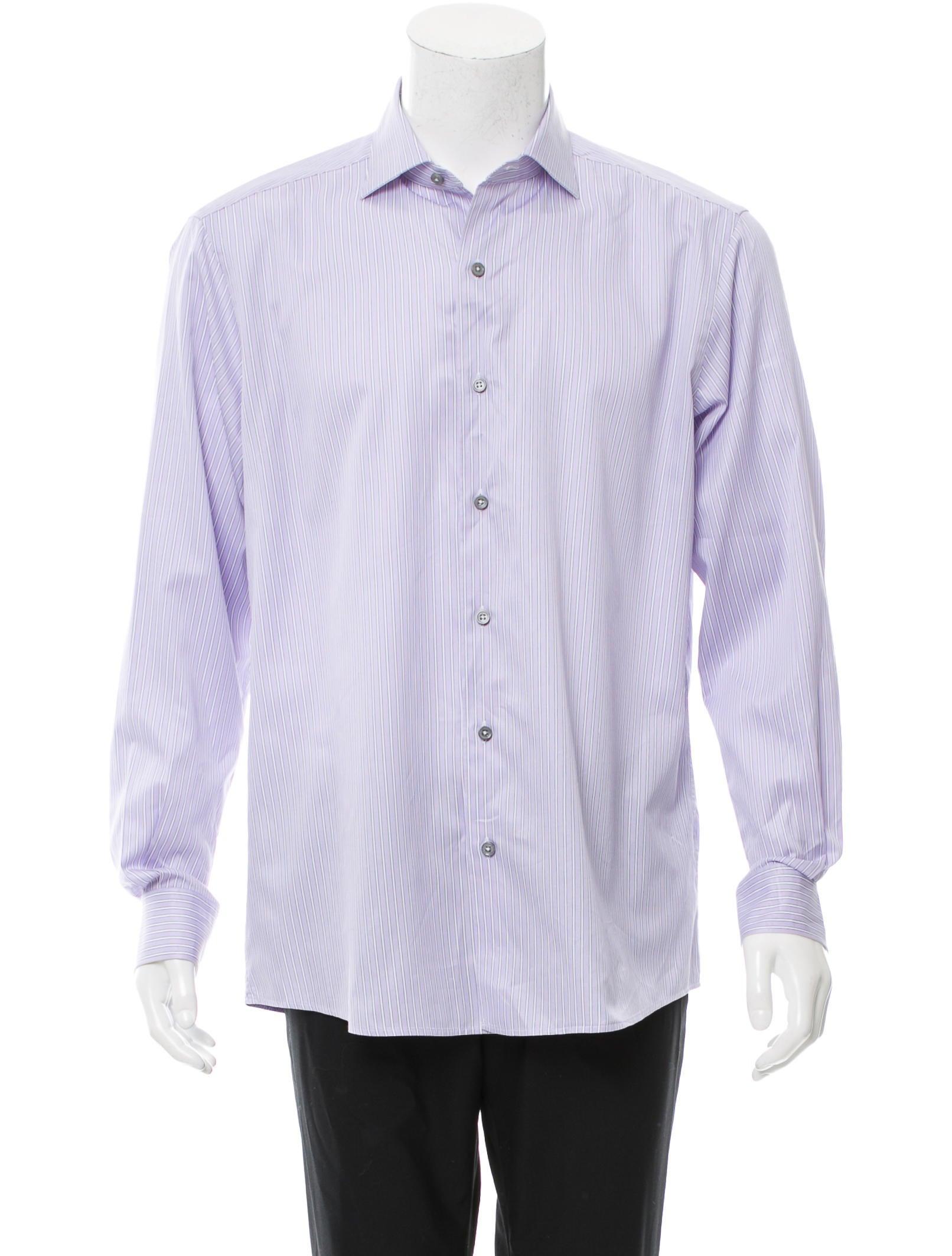 ermenegildo zegna striped button up shirt clothing zgn24246 the realreal. Black Bedroom Furniture Sets. Home Design Ideas