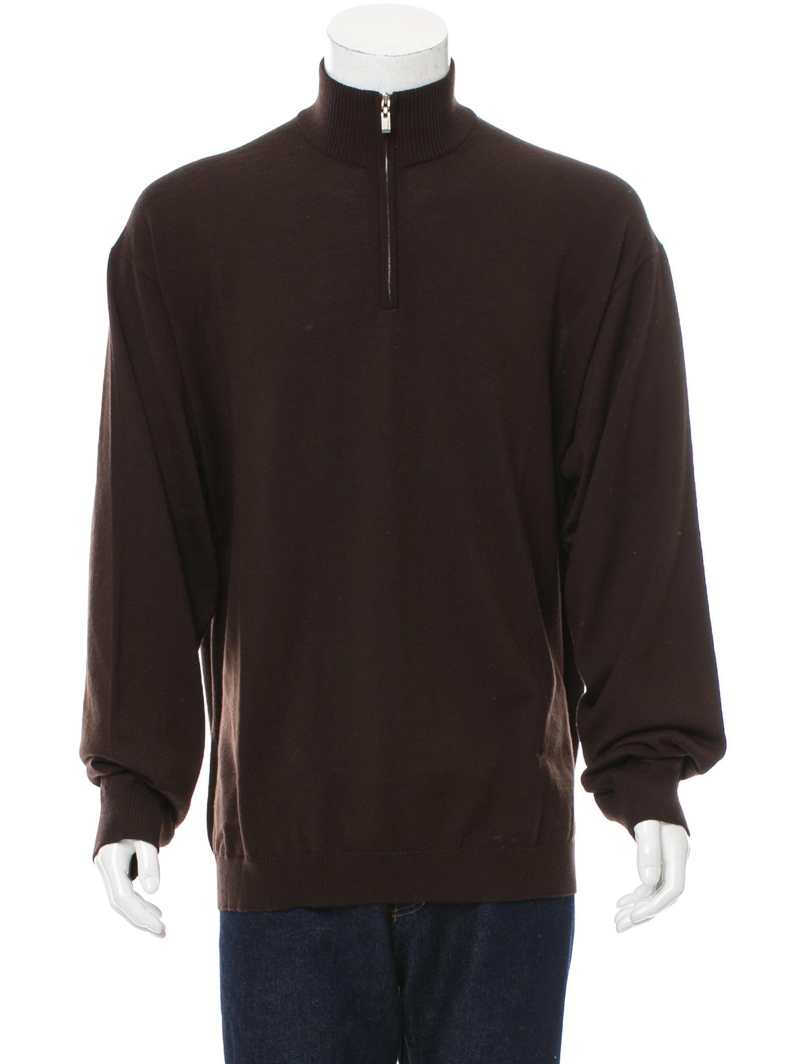 Ermenegildo Zegna Wool Half-Zip Sweater - Clothing - ZGN24290 | The RealReal