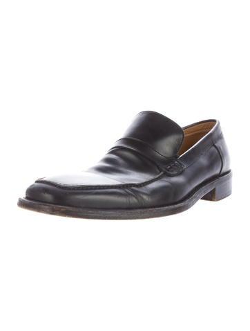 ermenegildo zegna leather dress loafers shoes zgn24295