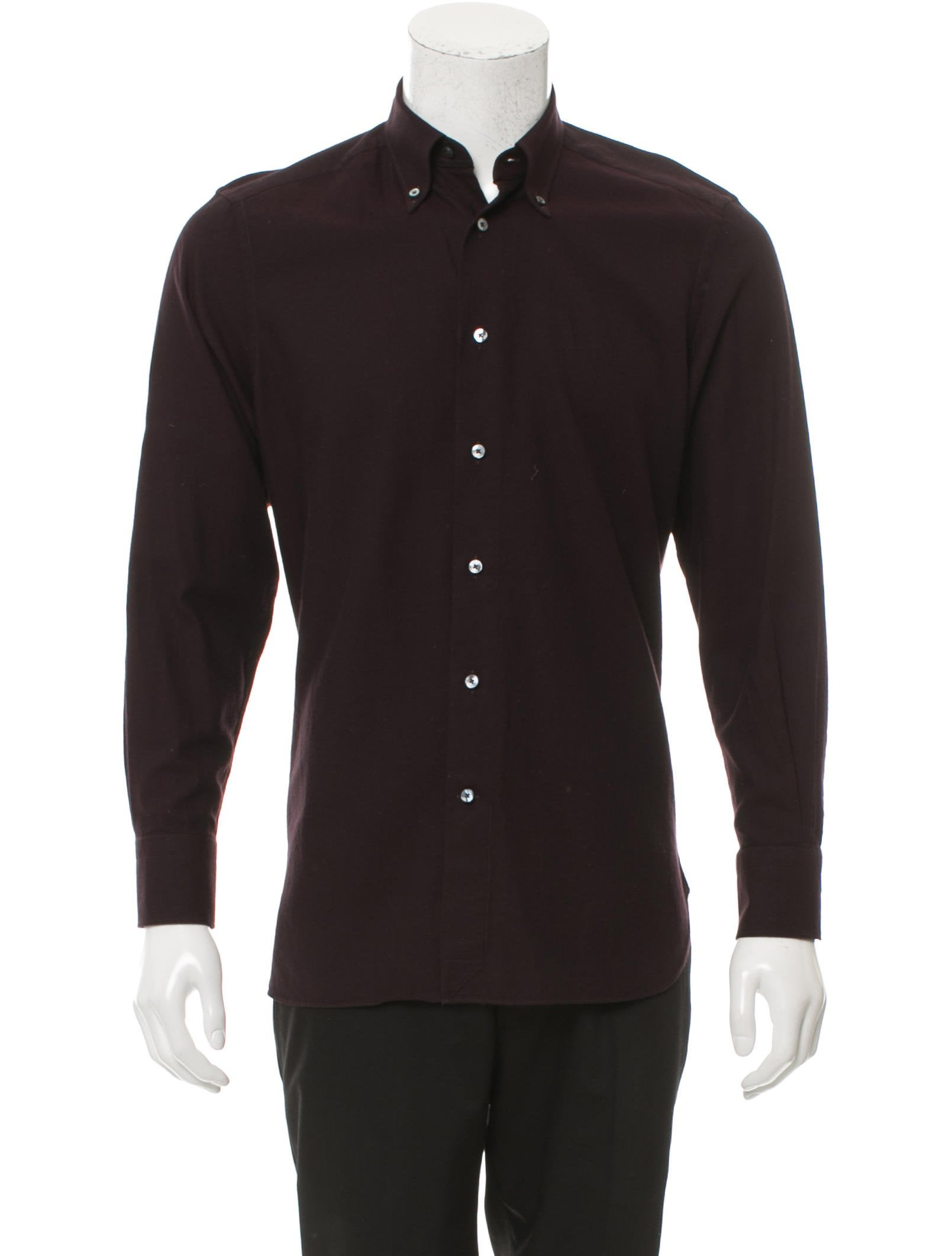 Ermenegildo zegna tailored fit woven shirt clothing for Tailored fit dress shirts