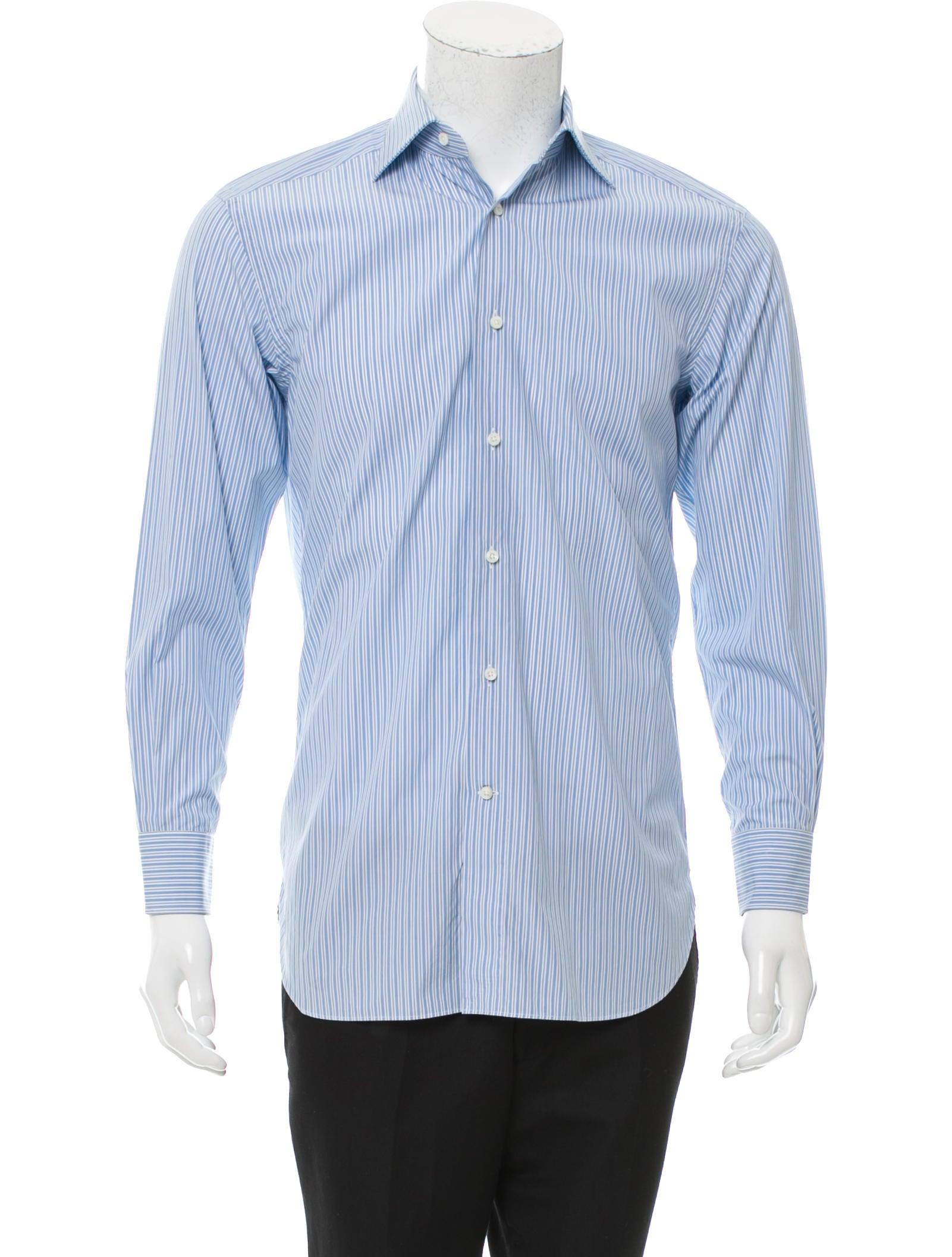 ermenegildo zegna striped button up shirt clothing zgn24337 the realreal. Black Bedroom Furniture Sets. Home Design Ideas