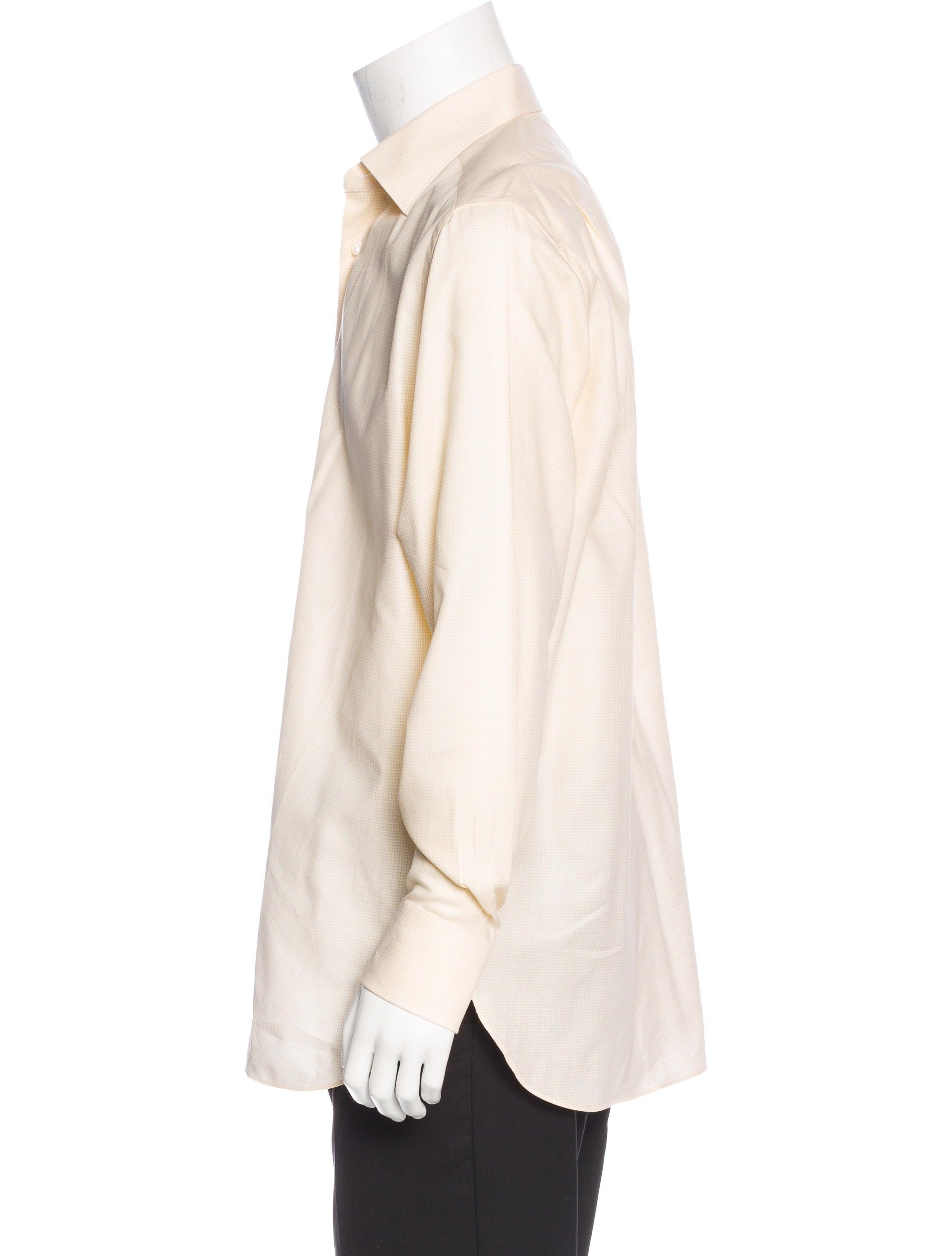 Ermenegildo zegna regular fit print shirt clothing for Regular fit dress shirt