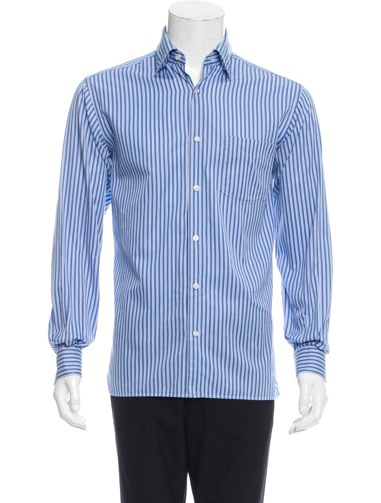 ermenegildo zegna striped button up shirt clothing zgn24433 the realreal. Black Bedroom Furniture Sets. Home Design Ideas