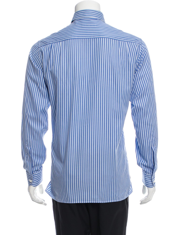 Ermenegildo Zegna Striped Button Up Shirt Clothing