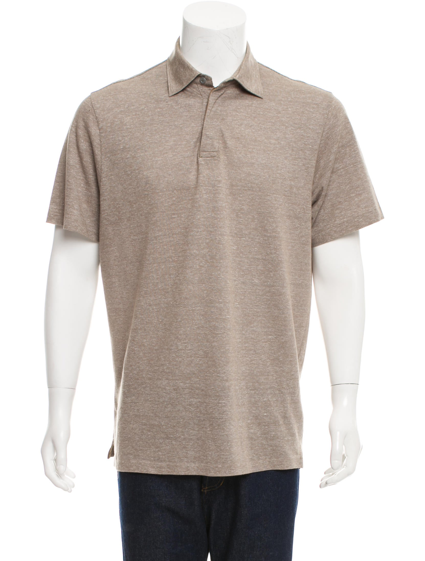 Ermenegildo Zegna Linen Blend Polo Shirt Clothing