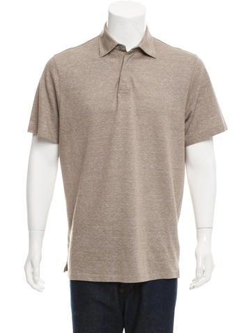 Ermenegildo zegna linen blend polo shirt clothing for Zegna polo shirts sale