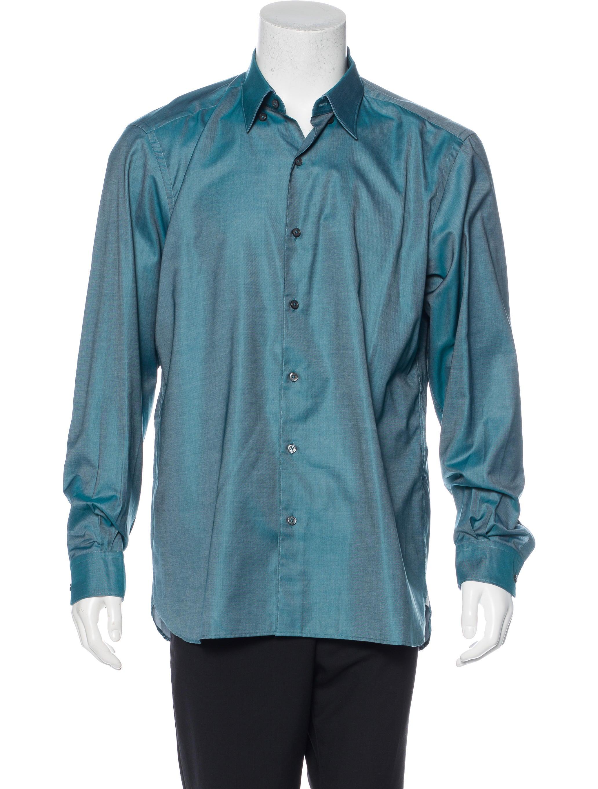 ermenegildo zegna woven button up shirt clothing zgn24567 the realreal. Black Bedroom Furniture Sets. Home Design Ideas