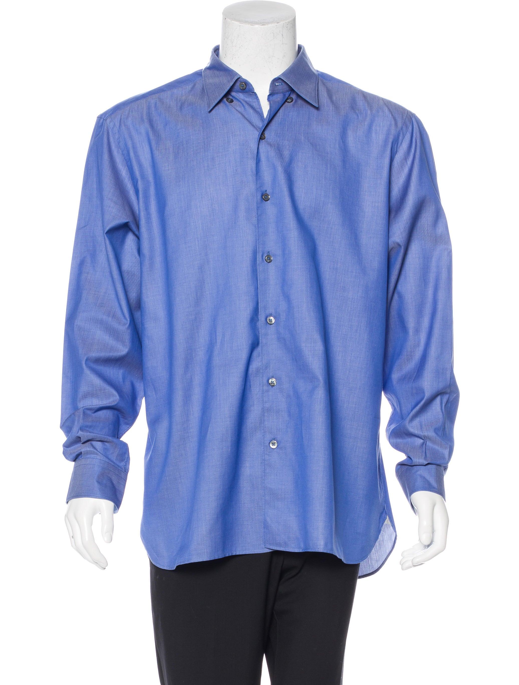 ermenegildo zegna woven button up shirt clothing zgn24622 the realreal. Black Bedroom Furniture Sets. Home Design Ideas