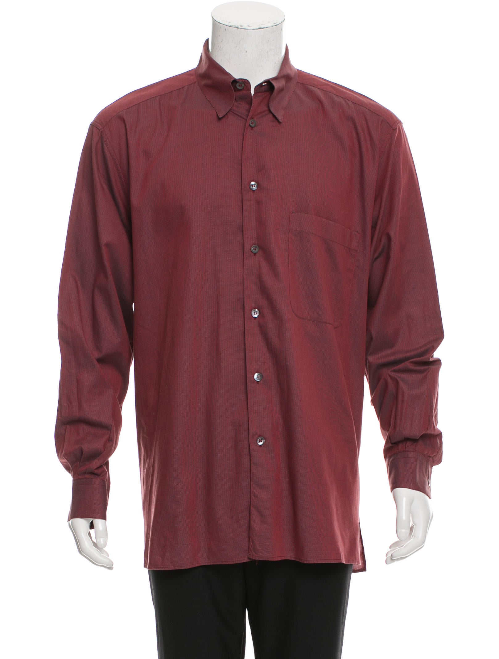ermenegildo zegna patterned button up shirt clothing zgn24642 the realreal. Black Bedroom Furniture Sets. Home Design Ideas