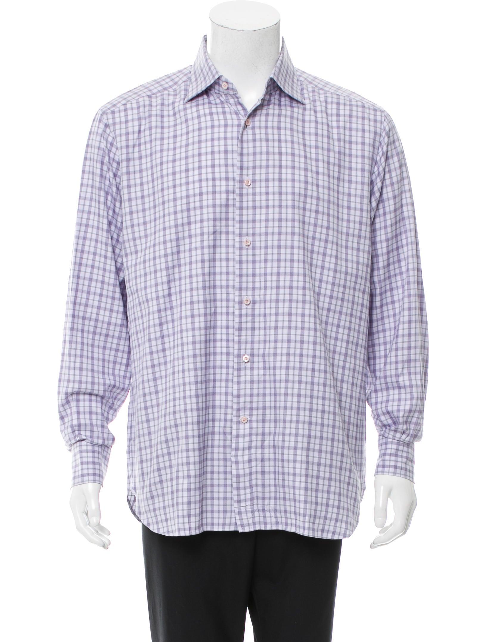 ermenegildo zegna plaid button up shirt clothing zgn24746 the realreal. Black Bedroom Furniture Sets. Home Design Ideas